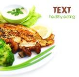 Tasty fish fillet Stock Photos