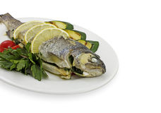 Tasty fish with vegetables Stock Image