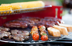 Tasty food on barbecue Royalty Free Stock Photos