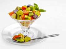 A Tasty food. Fresh fruits salad. High quality image Royalty Free Stock Photography