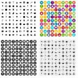 100 tasty food icons set vector variant. 100 tasty food icons set vector in 4 variant for any web design isolated on white Stock Illustration