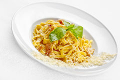 Tasty food. Pasta with roasted meat. Stock Photography