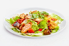 A Tasty food . The salad with roasted chicken .   Royalty Free Stock Photo