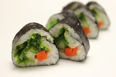 Tasty food. Sushi Roll background. Royalty Free Stock Photos