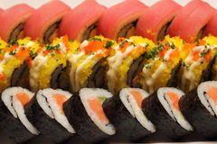 Tasty food. Sushi Roll background Royalty Free Stock Photo