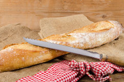 Tasty French baguette Royalty Free Stock Images
