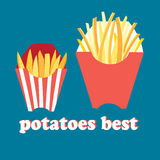 Tasty French fries Royalty Free Stock Images