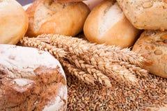 Tasty fresh baked bread bun baguette natural food Royalty Free Stock Photo