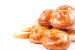 Bun with sesame. Tasty fresh bread with sesame seeds Stock Images