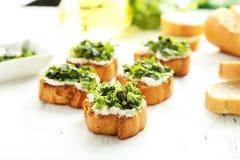 Tasty fresh bruschetta Royalty Free Stock Photo