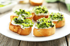 Tasty fresh bruschetta Stock Photography