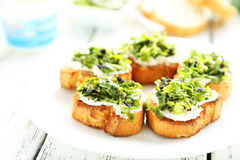 Tasty fresh bruschetta Stock Photos