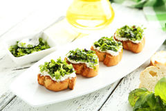 Tasty fresh bruschetta Stock Image