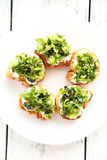 Tasty fresh bruschetta Royalty Free Stock Photo