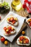 Tasty fresh bruschetta Royalty Free Stock Images
