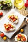 Tasty fresh bruschetta Royalty Free Stock Image