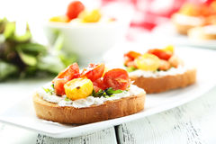Tasty fresh bruschetta Stock Images
