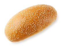 Tasty fresh bun with sesame seeds Stock Image