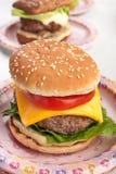 Tasty Fresh Cheeseburgers Stock Photography