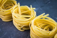 Tasty Fresh Colorful Ingredients for Cooking Pasta Tagliatelle.  Stock Image