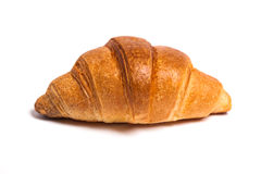 Tasty fresh croissant bread on white background Stock Images