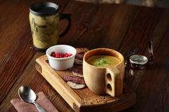 Tasty and fresh european soup Royalty Free Stock Photography