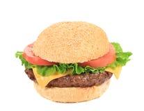 Tasty fresh hamburger with sesame seeds. Royalty Free Stock Photo