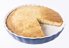 Tasty fresh homemade pie on white background. Tasty homemade pie on white background stock image