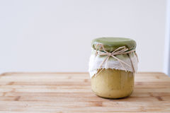Tasty fresh hummus Stock Photo