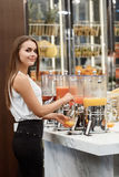 Tasty fresh juices for the lunch Royalty Free Stock Photography