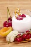 Tasty fresh mix berry smoothie Royalty Free Stock Photo