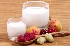 Tasty fresh mix berry smoothie Royalty Free Stock Photos