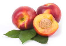 Tasty fresh peach Stock Images