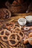 Tasty fresh pretzels Royalty Free Stock Images