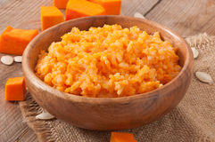 Pumpkin porridge Stock Photo