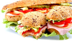 Tasty fresh sandwich Royalty Free Stock Images