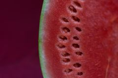Tasty and fresh sliced watermelon royalty free stock images