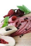 Tasty fresh slices Salami. Stock Image