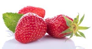 Tasty fresh strawberries Stock Photos