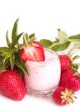 Tasty fresh strawberry smoothie Stock Photography