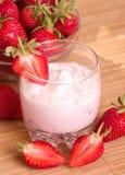 Tasty fresh strawberry smoothie Royalty Free Stock Photography