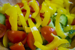Tasty fresh vegetable salad, closeup Royalty Free Stock Image
