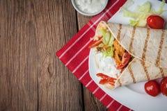 Tasty fresh wrap sandwich. Stock Images