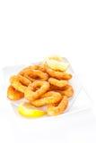 Tasty fried calamari Royalty Free Stock Images