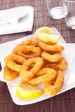 Tasty fried calamari Stock Images