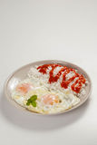 Tasty fried eggs royalty free stock images