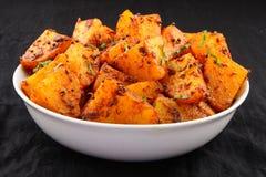 Tasty  fried potatoes. Royalty Free Stock Photography