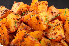 Tasty fried potatoes. Stock Images