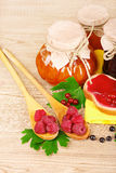 Tasty fruit and berry jam Royalty Free Stock Photos