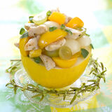 Tasty fruit and chicken salad Royalty Free Stock Photos